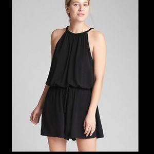 Gap Black Sleeveless Shorts Romper
